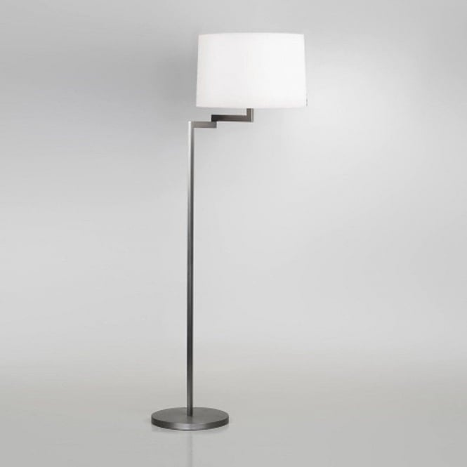 Modern Brushed Stainless Steel Floor Lamp with Adjustble