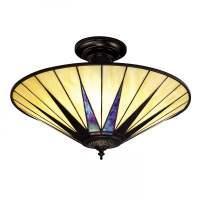 Tiffany Art Deco Dark Star Uplighter Ceiling Light for Low ...