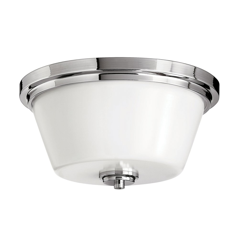 Traditional Bathroom Ceiling Light Fits Flush for Low Ceilings IP44