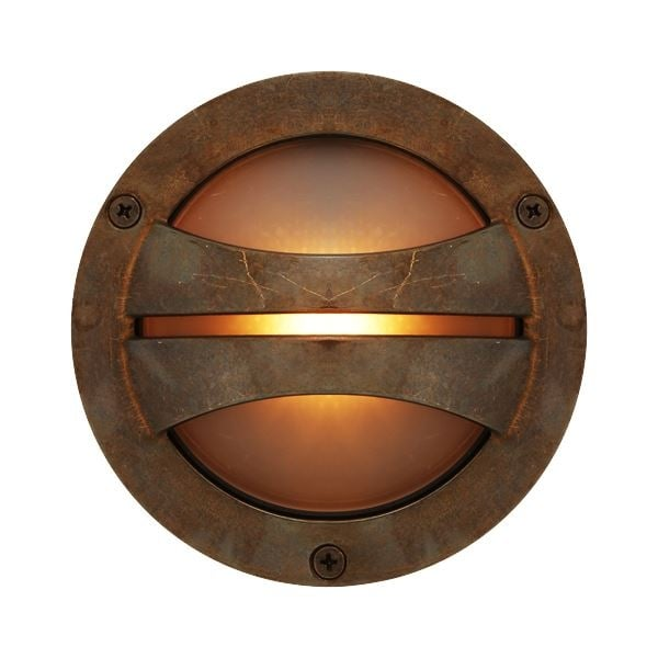 IP44 Outdoor Wall Light In Antique Brass Circular Porthole Style
