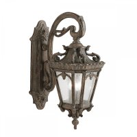 Large Outdoor Bronze Wall Lantern in Ornate Victorian ...