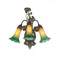 Decorative Art Nouveau Style Victorian Wall Light, Green