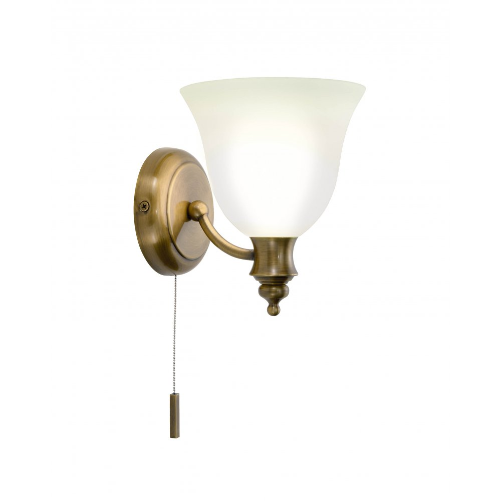 Traditional Victorian Antique Brass Period Wall Light with