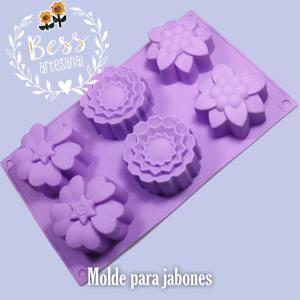 Bess Artesanal - Molde para jabón de flores