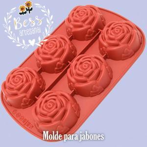 Bess Artesanal - Molde rosas para jabón y velas