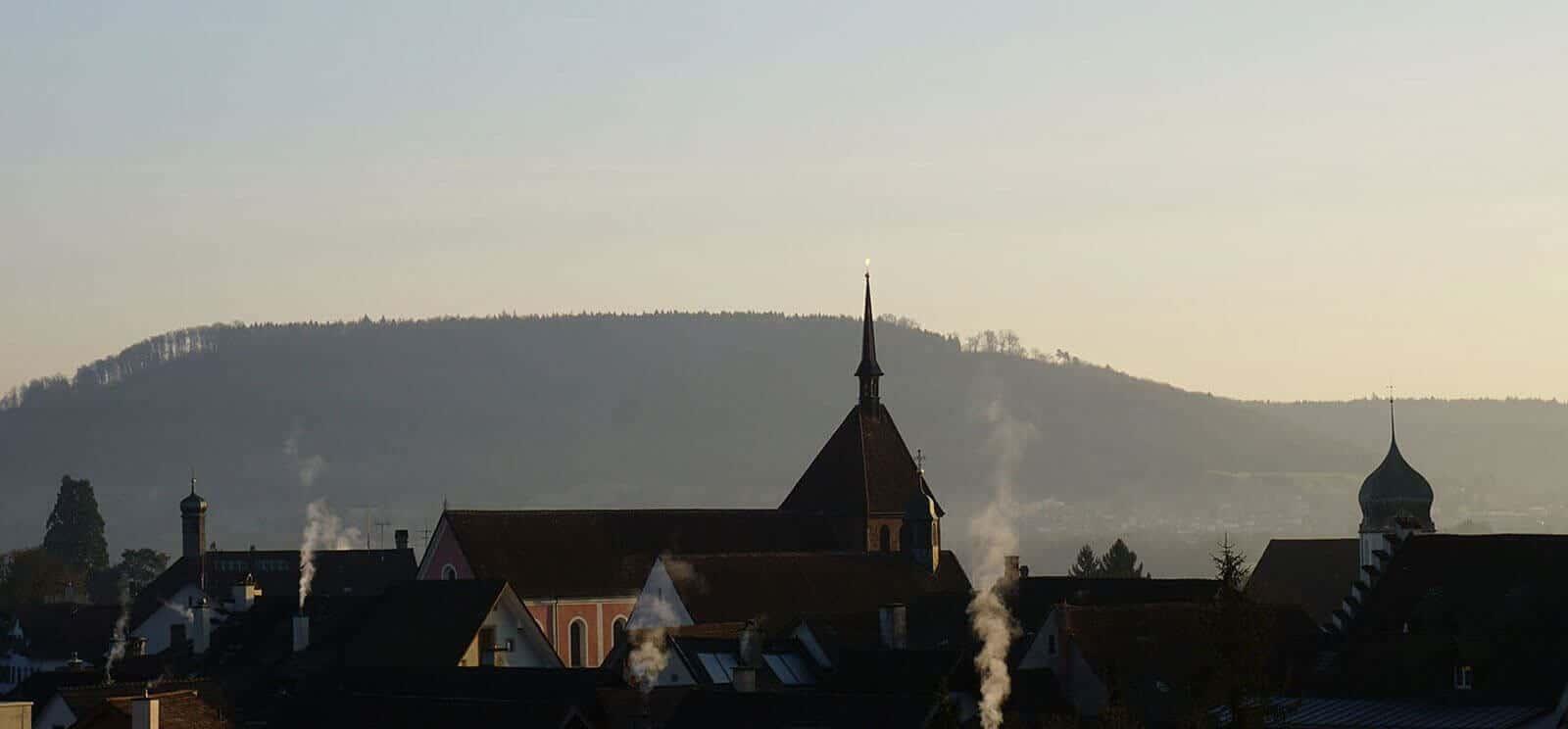 Blick aus der Hypnosepraxis über Bad Zurzach.