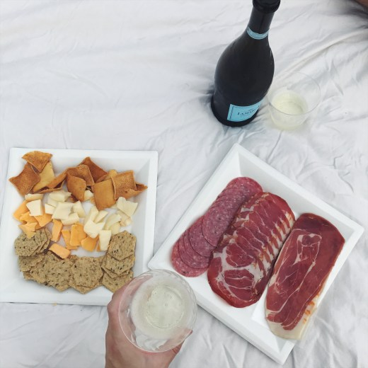 Charcuterie and champagne