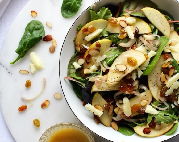 WARM APPLE SALAD w/ APPLE CIDER VINAIGRETTE