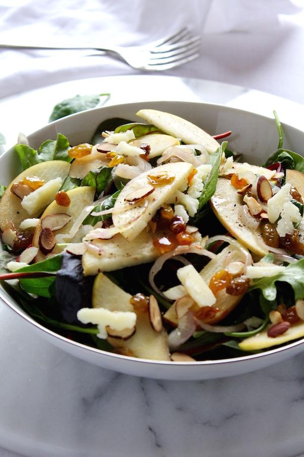 warm apple salad closeup