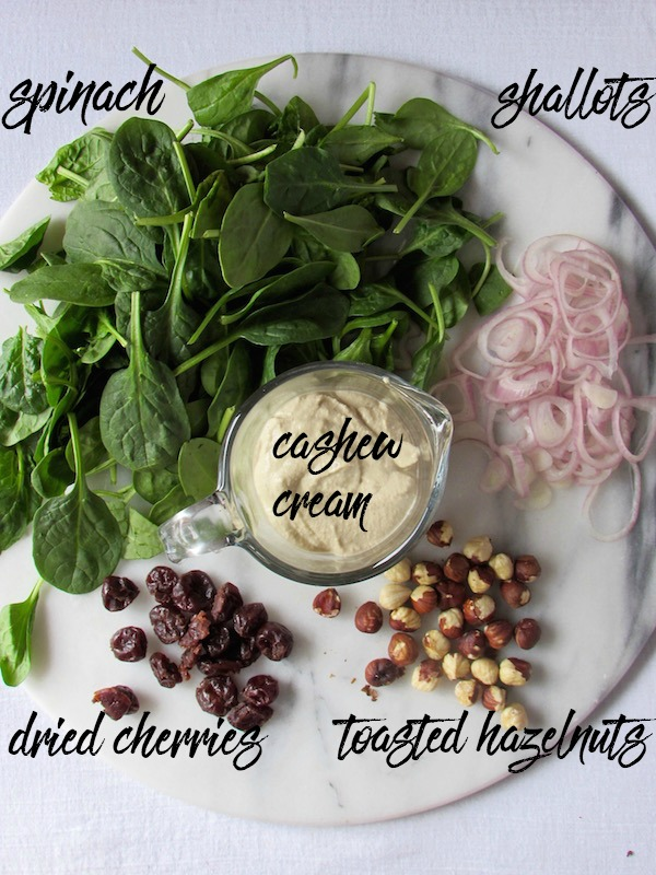 Vegan Creamed Spinach Ingredients