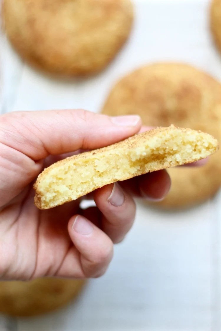 Chai Snickerdoodle cookies inside
