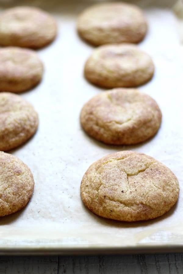 chai snickerdoodles baked