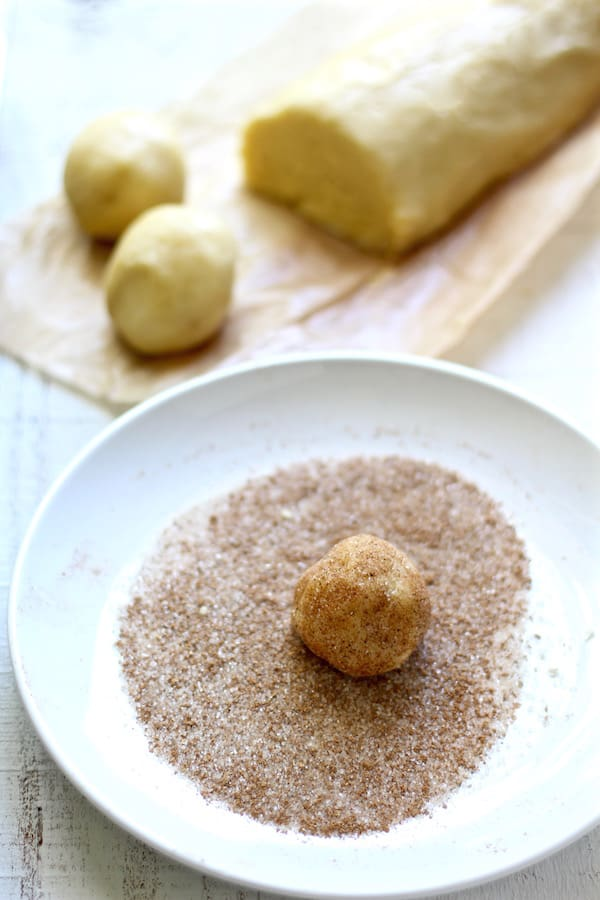 chai snickerdoodles rolled sugar and spices