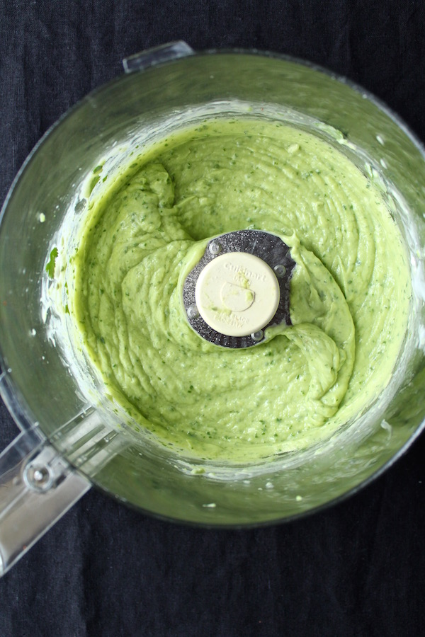 avocado lime cilantro sauce for sweet potato fries