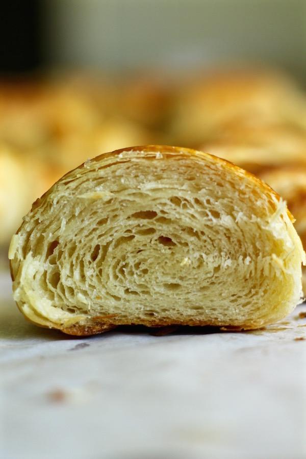 croissant cut in half
