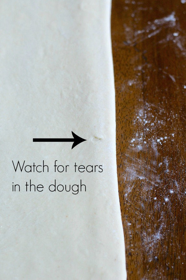 croissant dough tear with text