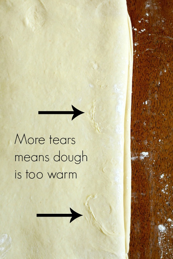 croissant dough with tears and text