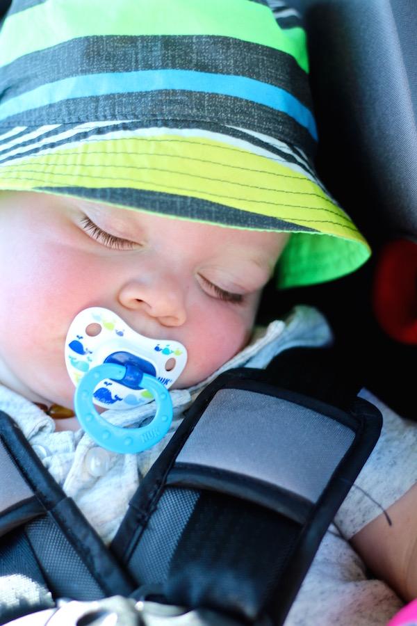 samuel sleeping carseat