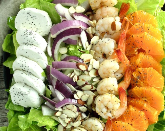 SKINNY SHRIMP SALAD w/ ORANGE POPPY SEED VINAIGRETTE