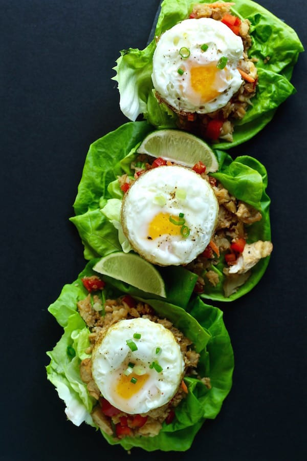 low-carb-chicken-lettuce-wraps-fried-eggs