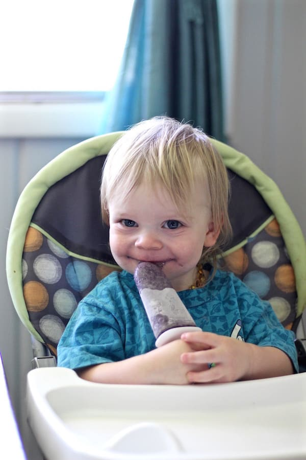smoothies and smoothie popsicles for toddlers and kids samuel eating popsicles