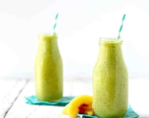 GREEN MANGO PEACH SMOOTHIE RECIPE