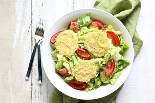 Healthy caesar salad with herbed yogurt caesar dressing is light as air and so refreshing!