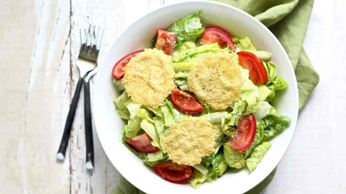 healthy caesar salad recipe with pecorino romano crisps