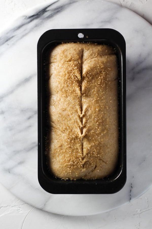 Sourdough Spelt Brioche Bread Proofed