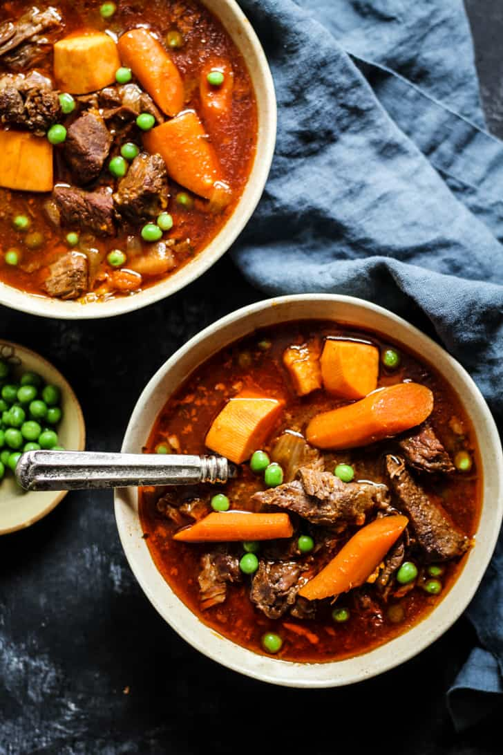 Bone Broth Beef Stew recipe in an instant pot, slow cooker, or stove top