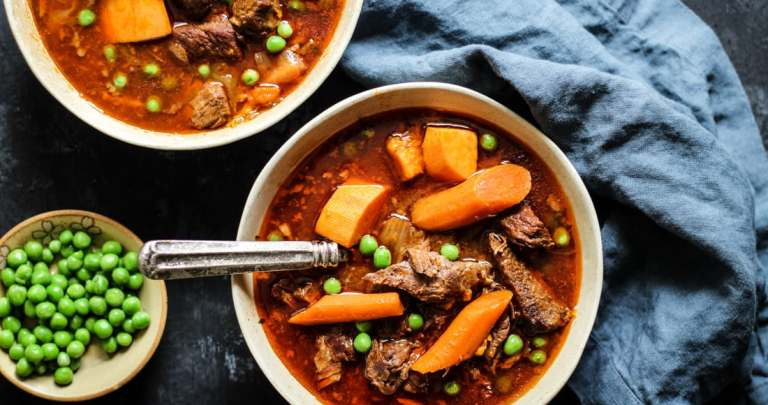 BONE BROTH INSTANT POT BEEF STEW RECIPE | CROCKPOT & STOVETOP TOO