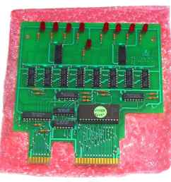 atari service center 130xe plug in diagnostic test board plugs into the 130xe cartridge and expansion ports and 130xe buss line s status indicator only  [ 1219 x 1204 Pixel ]