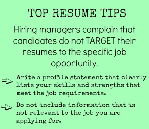 top resume objectives