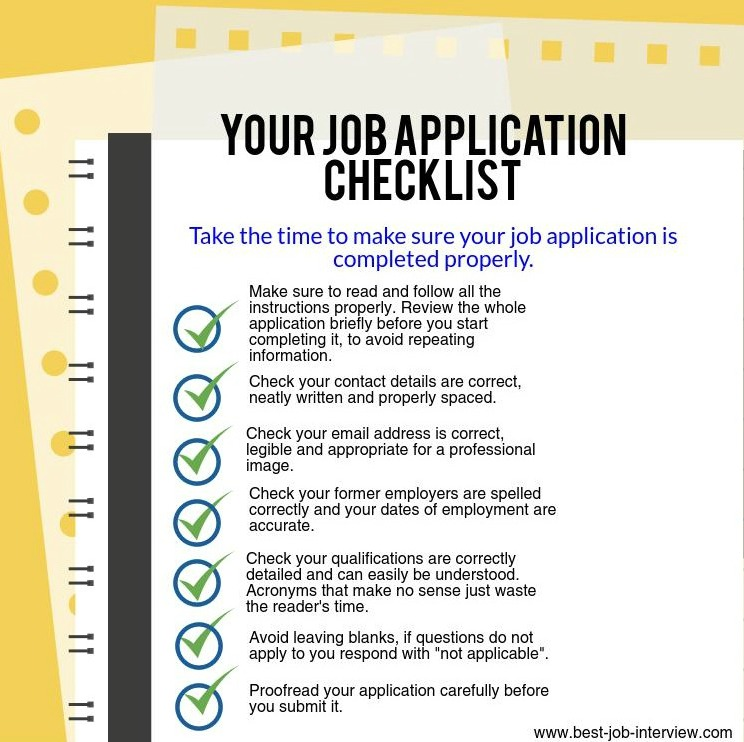 tips on filling out job applications