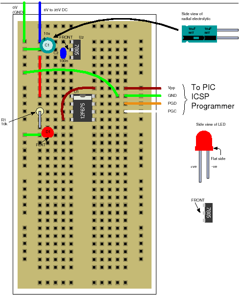 convert circuit diagram to breadboard electrical wiring books a pic 12f675 tutorial including 7 projects you can easily build flashing led plugblock