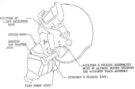 DH-101 nuclear flash goggle helmet