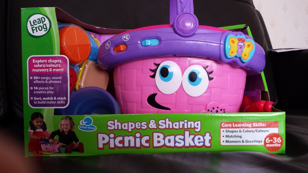 Leapfrog Shapes Sharing Picnic Basket Is Firm Favorite With Amelia