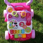 Vtech Sit Stand Learning Walker Pink got Amelia on her feet