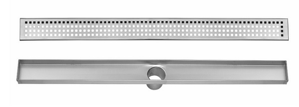 Stainless Steel Linear Drain for Shower - 24 to 48 Inch