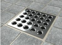 Ebbe E4401 Square Shower Drain - Stainless Steel Grate ...