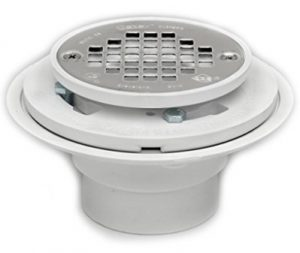 Oatey 42213 PVC Shower Floor Drains for Tile Shower Bases with Stainless-Steel Strainer