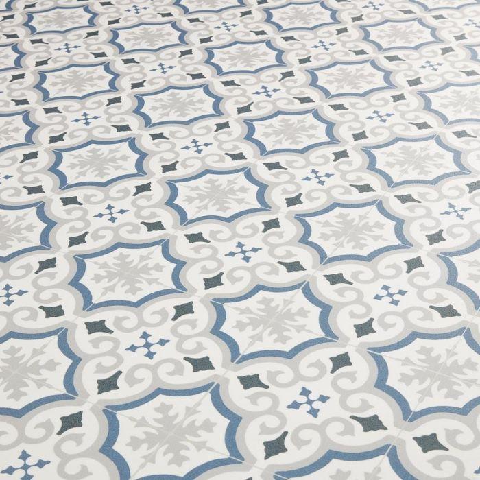 spanish tile effect cushion vinyl flooring sheet adriana