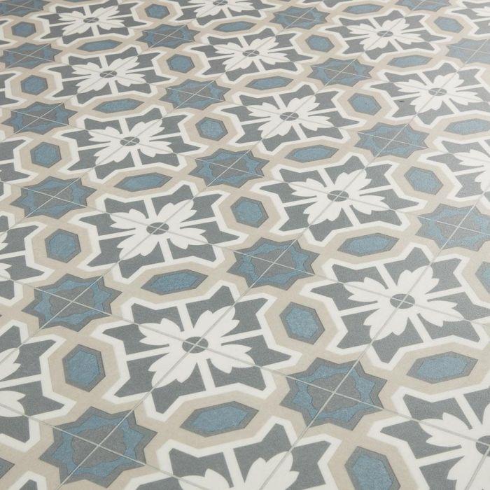 country cottage sheet vinyl flooring cornflower