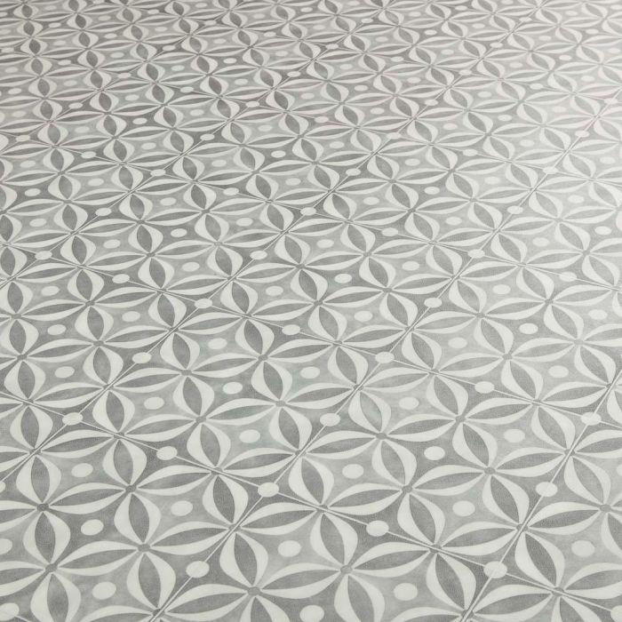 cement tile design cushioned vinyl flooring sheet quartz grey