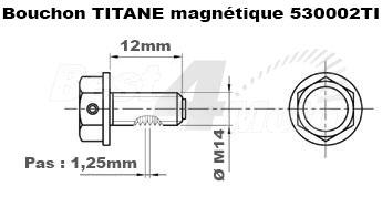 BOUCHON VIDANGE TITANE M14X1,5X12 Magnétique PROBOLT