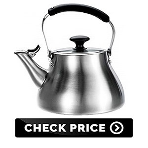 Classic Tea Kettle, Brushed Stainless