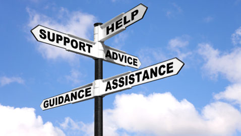support, help, advice and guidance