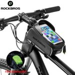 ROCKBROS-Bicycle-Bag-Waterproof-Touch-Screen-Cycling-Bag-Top-Front-Tube-Frame-MTB-Road-Bike-Bag