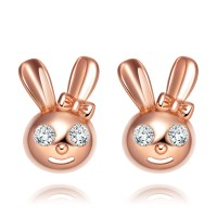 MAGIC SPARKLING EARRINGS - Cute Small Playboy Bunny ...