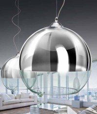 Azzardo Silver Ball 35, Pendant Light in Chrome